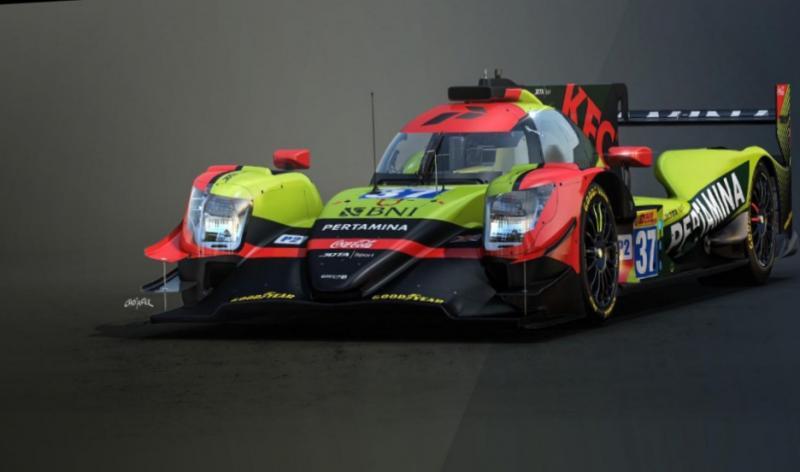 Bocoran desain mobil yang akan dipakai Sean Gelael di ajang balap ketahanan LMP2 tahun depan? (foto : ist)