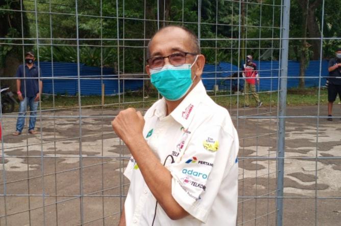 Foto terakhir Alex Asmasoebrata saat mengunjungi event gokart di SIKC Bogor, 1 Oktober 2020 lalu. (foto : bs)