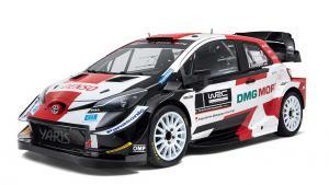 Mobil reli baru Toyota untuk musim 2021, spec masih sama dengan mobil tahun lalu.