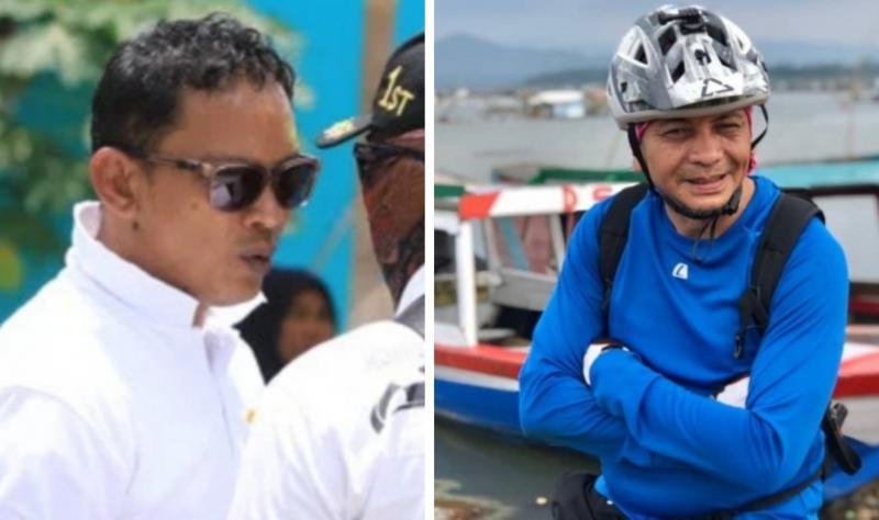Medya Saputra (kiri) dan Eddy Saputra, duo Saputra di balap motor IMI Pusat periode 2021-2024