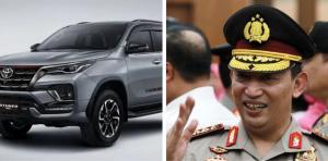 Calon Kapolri Komjen Pol Listyo Sigit Prabowo dan Toyota Fortuner. (foto : kolase)