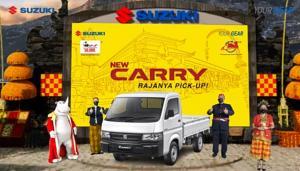 Prosesi peluncuran Suzuki New Carry Suzuki Pick Up versi penyegaran secara virtual hari ini