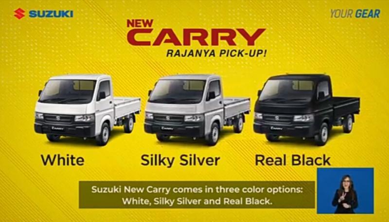 New Carry Pick Up versi penyegaran dengan 3 pilihan warna yang digandrungi konsumen