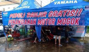Konsumen yang terbantu dengan adanya posko service gratis ini memberikan apresiasinya kepada Yamaha.