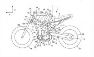 Kerangka motor listrik keluaran Honda, mengadopsi CB125R. (foto : visordown)