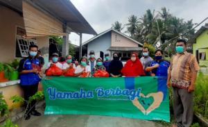 Yamaha Bangka Belitung menyalurkan paket sembako dan masker bagi warga yang terkena dampak banjir