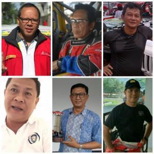 Searah jarum jam, dari kiri atas Suryo Putranto, Fredrick T Moeladi, Lanang Damarjati, Eris Mahpud, Gerry Rosanto dan Dharma Srada. (foto : kolase)