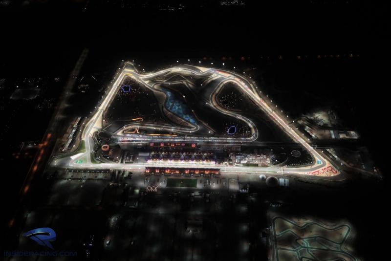 Sirkuit Sakhir di Bahrain, berpotensi jadi ajang winter test plus 2 seri awal F1 2021 digelar malam hari. (Foto: insideracing)