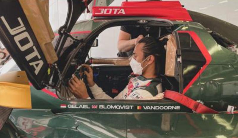 Sean Gelael tengah melakukan latihan untuk ikuti event Asian Le Mans di sirkuit Yas Marina, Abu Dhabi, UEA akhir pekan ini