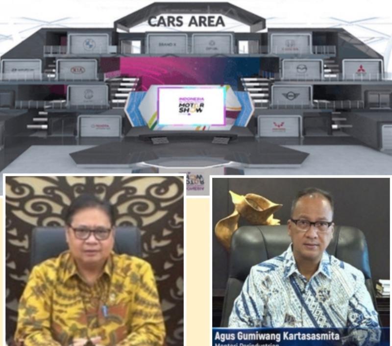 Menko Perekonomian Airlangga Hartarto dan Menperin Agus Gumiwang berkenan membuka IIMS Virtual Show 2021 hari ini