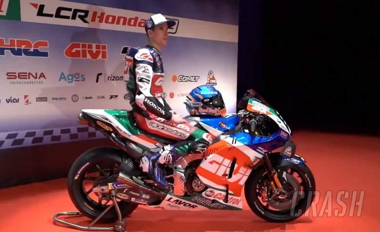 Alex Marquez (Spanyol) dengan outfit baru di LCR Honda. (Foto: crah)