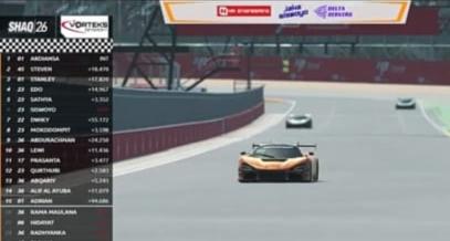 Daffa AB menembus finish line pertama diikuti Nikolas Steven dan Ferris Stanley dengan jarak cukup jauh