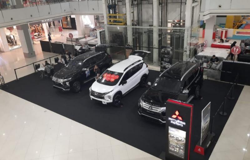 Peluncuran New Pajero Sport di sebuah mall di Bandar Lampung, Lampung.