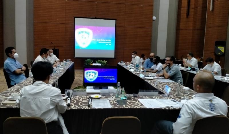 Rapat 1 Olahraga Mobil IMI Pusat di Hotel Lorin Sentul, Bogor, Rabu hari ini. (foto :bs)