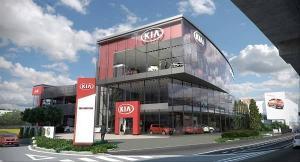 Ilsutrasi showroom mewah KIA untuk melayani berbagai keperluan konsumen berkaitan dengan produk asal Korea Selatan itu