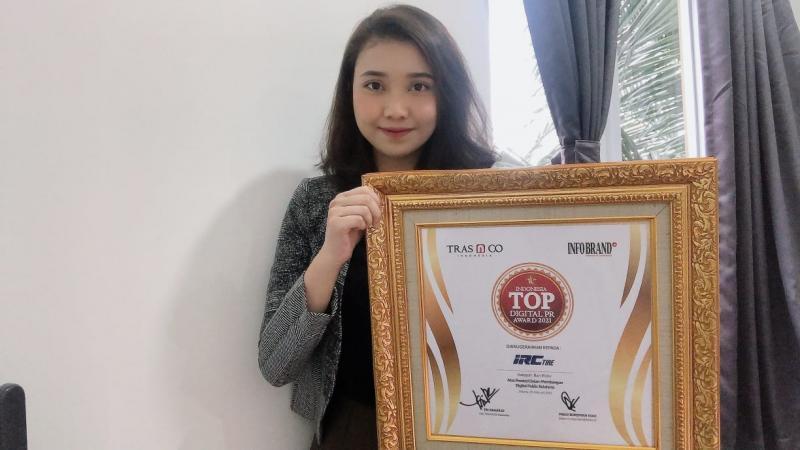 IRC Tire mendapat penghargaan TOP Digital PR Award 2021