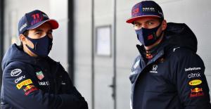 Duet tim Red Bull Sergiio Perez dan Max Verstappen. (Foto: redbullcontentpool)