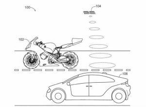Gambar paten teknologi drone Honda untuk motor