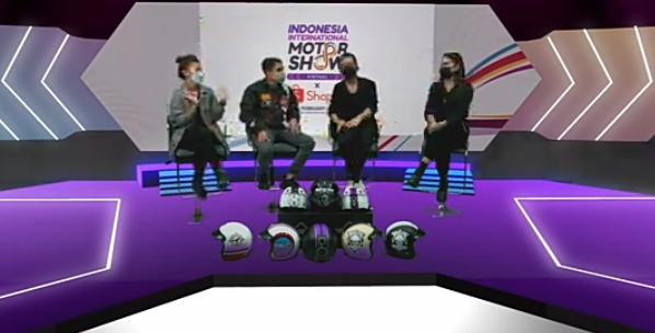 Tangkapan layar acara IIMS Virtual x Shopee 2021 bersama GIGAS Helmet
