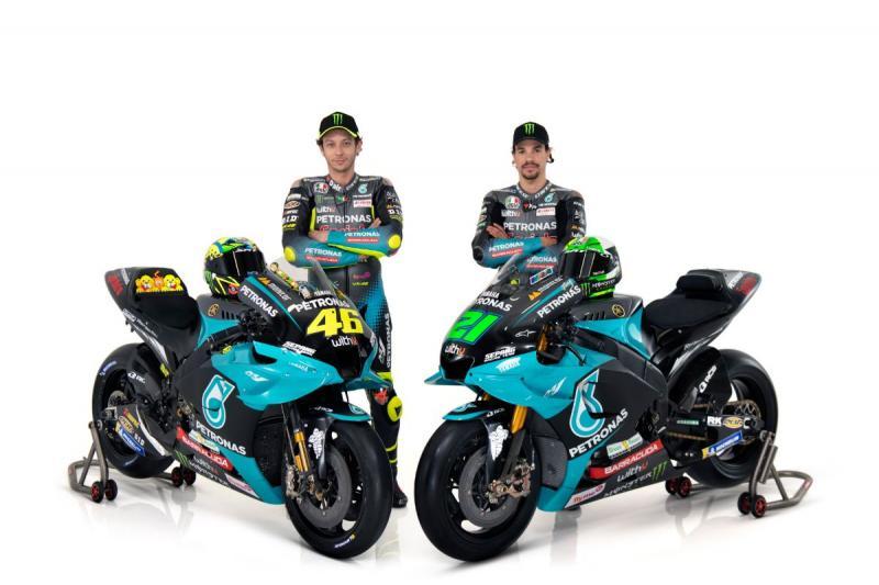Valentino Rossi dan Franco Morbidelli, guru dan murid di tim Petronas Yamaha Srt. (Foto: yamaha)