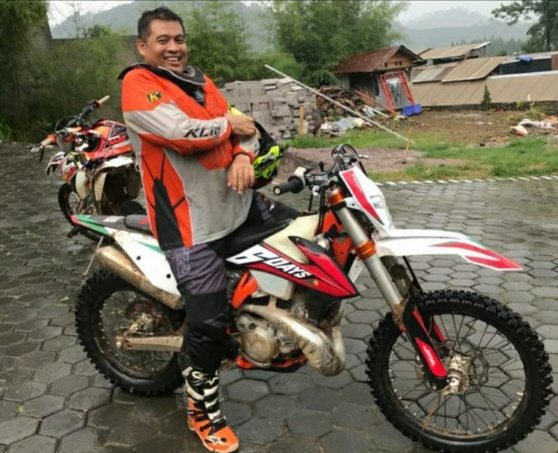 H Musliman, misinya mensosialisasikan regulasi IOF untuk trail adventure dan enduro. (foto ; ist)