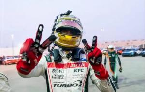 Sean Gelael pecah telor dengan juara 1 pada 2 race balap ketahanan 4 jam Asian Le Mans di sirkuit Yas Marina, Abu Dhabi