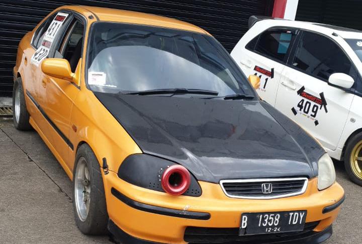 Honda Ferio H23 andalan Reservedbefore siap diturunkan di ajang Sentul Drag Fest 2021