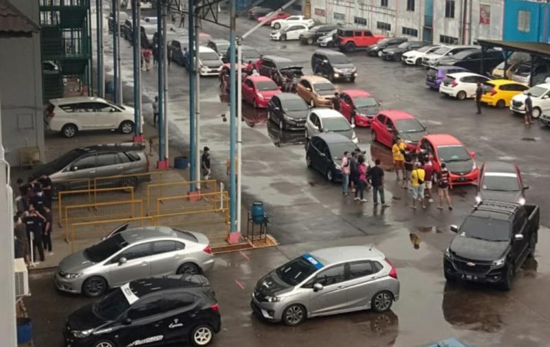 Sesi scrutinering mobil peserta Sentul Drag Fest 2021 dilangsungkan Jumat (5/3/2021) di Sentul International Circuit