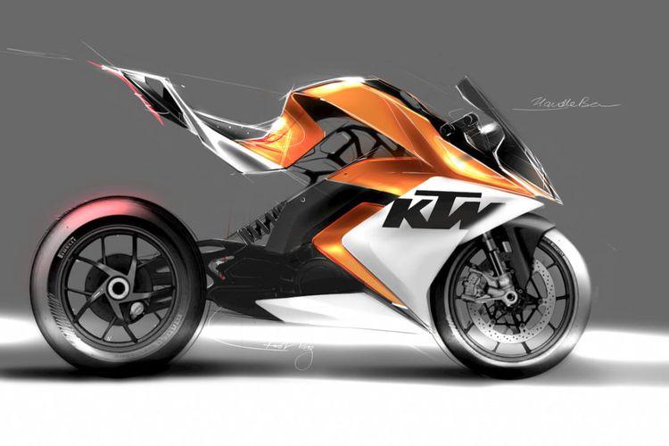 Salah satu model motor listrik KTM yang akan menjadi motor sport dengan mesin listrik yang ramah lingkungan