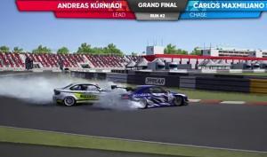 Carlos Maxmiliano vs Andreas Kurniadi di grand final kelas Pro 1 IDDS round 2 di sirkuit Moscow