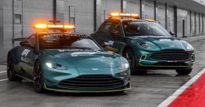 Tampilan Aston Martin Vantage dan DBX yang jadi mobil keselamatan dan medis di ajang Formula 1 tahun 2021