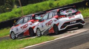 Toyota Yaris andalan Toyota Team Indonesia di kelas ITCR Max dengan pembalap Haridarma Manoppo dan Demas Agil, siap turun di ISSOM 2021. (foto : TTI)