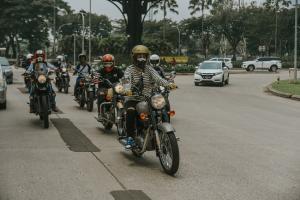 Para Lady Bikers merayakan Hari Perempuan Internasional dengan riding keliling kota Jakarta