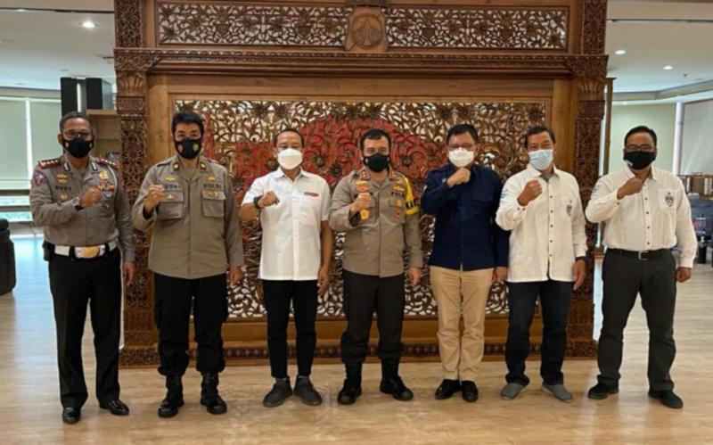 Kapolda Jateng Irjen Pol Ahmad Lutfhi saat menerima pengurus IMI Jateng dipimpin Plt M Riyanto dan Tim Penjaringan Bakal Caketum