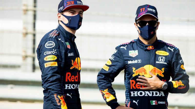Max Verstappen dan Sergio Perez, bakal berhantam sendiri di dalam tim Red Bull? (Foto: redbullcontentpool)