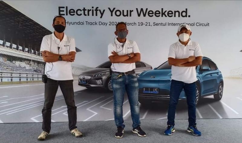 Dari kiri Rendi Son, Gerry Nasution dan Jimmy Lukita di Hyundai Track Day 2021 di Sentul International Circuit Bogor