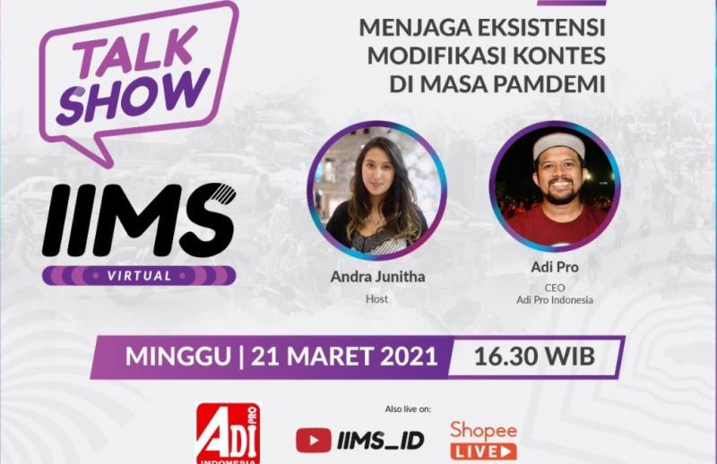 Talk Show tentang komunitas motor bersama Adi Pro di IIMS Virtual 2021 Phase 2