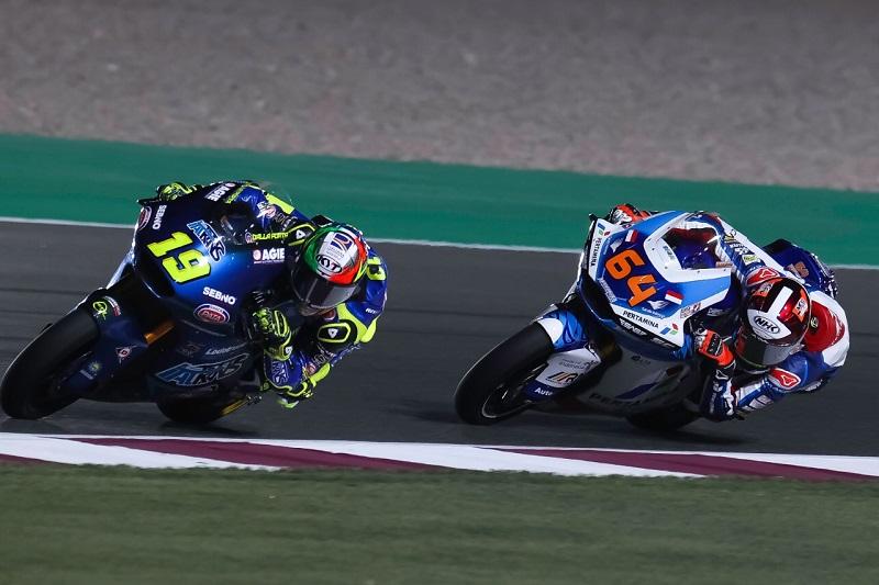 Bo Bendsneyder ketika berlaga di ajang Moto2 di  Sirkuit Losail, Qatar tadi malam
