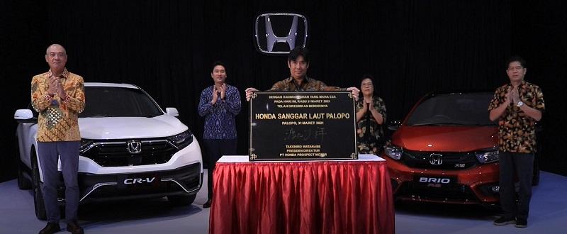 Peresmian dealer Honda Palopo secara daring yang diikuti petinggi PT Honda Prospect Motor