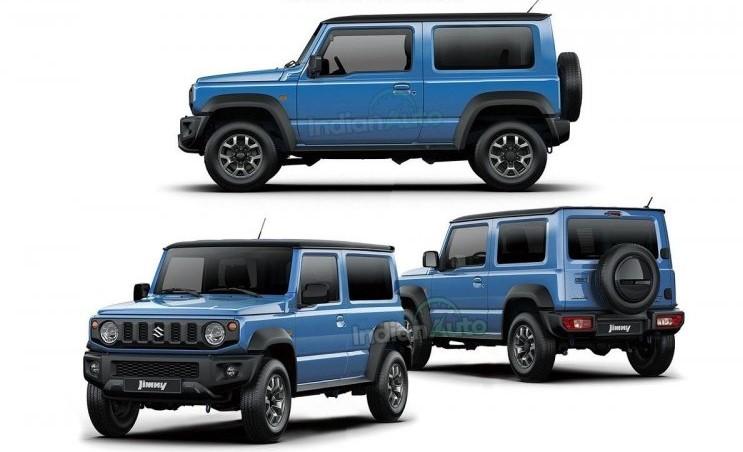 Tampilan rendering Suzuki Jimny lima pintu dengan Wheelbase yang lebih panjang