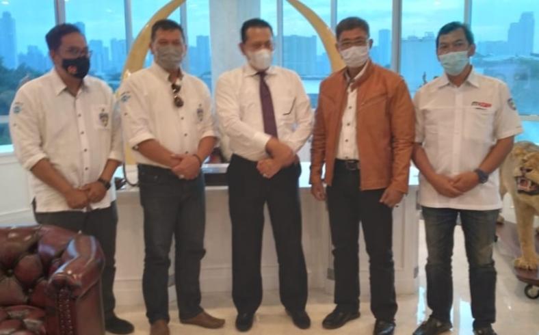 Panitia Musprov IMI Jawa Tengah menghadap Ketum IMI Pusat Bamsoet di Jakarta kemarin