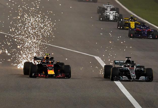 Duel ketat Max Verstappen vs Lewis Hamilton, diharap lanjut di Imola pekan depan. (Foto: f1)
