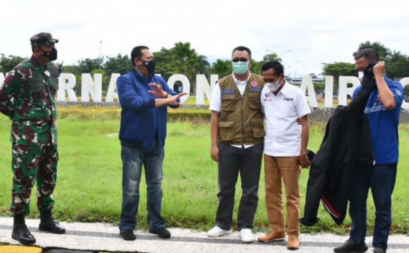 Bamsoet meninjau kesiapan Bandara International Lombok, NTB untuk mendukung MotoGP Mandalika hari ini