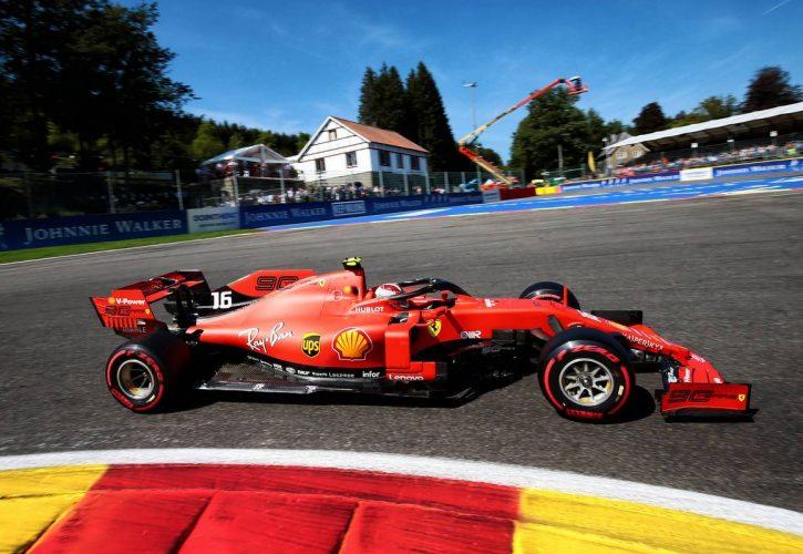 SF90 yang bawa kemenangan bersejarah buat Charles Leclerc (Monaco/Ferrari). (Foto: f1)