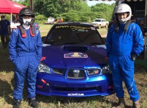Bocah ajaib dari Batam, Bintang Barlean dan navigator Anondo Eko, kejutan hari pertama Kejurnas Sprint Rally Tanjung Lesung, Banten, Sabtu hari ini