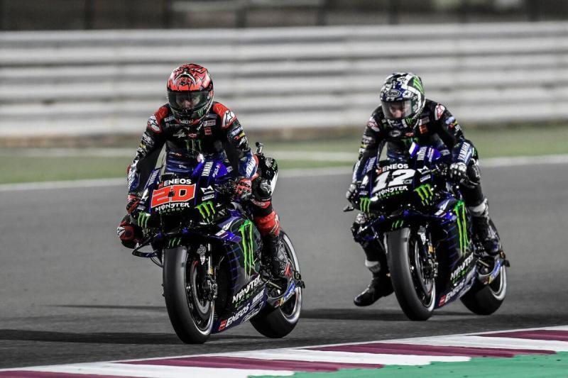 Duet Yamaha Fabio Quartararo dan Maverick Vinales. Ban tak masalah di Qatar, tanda tanya di Portugal. (Foto: ruetir)