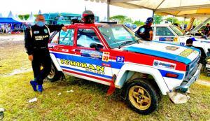 Ronny JS amankan posisi runner up di Kelas R.3 di hari pertama Kejurnas Sprint Rally Tanjung Lesung Banten