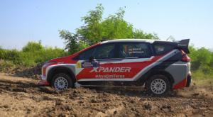 Xpander AP4 yang dikendarai pereli sarat pengalaman Rifat Sungkar berjaya di Kejurnas Sprint Rally Tanjung Lesung Banten