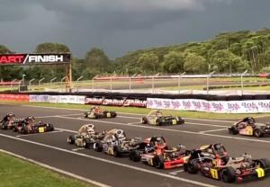 Dua race final bergengsi kelas Mini Rok dan Senior Rok terpaksa dibatalkan karena faktor cuaca di SIKC Bogor.