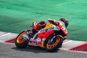 Marc Marquez (Spanyol/Honda) songsong GP Portugal setelah absen 9 bulan dari MotoGP. (Foto: crash)